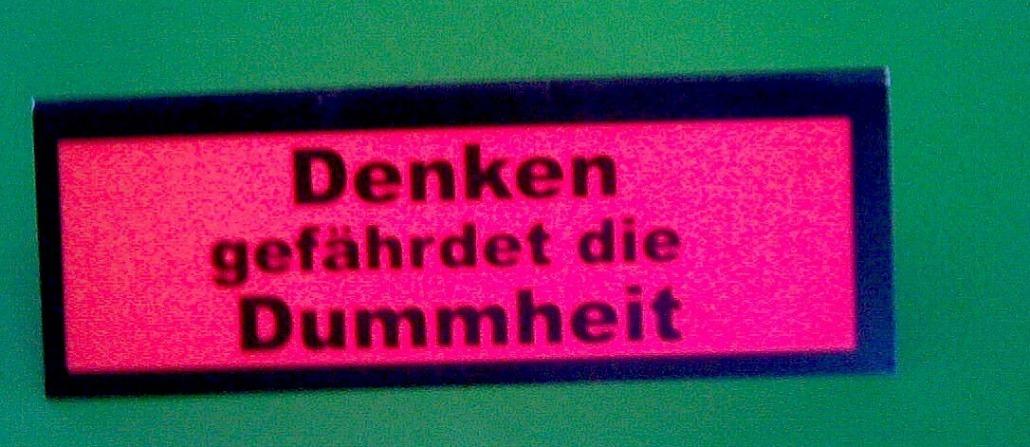 """alt=""""Coaching München & Stuttgart: Dr. Berle. Grafik Denken contra Dummheit"""""""