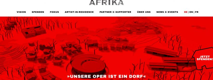 """alt=""""operndorf afrika von Christof Schlingensief: Unsere Oper ist ein Dorf"""""""
