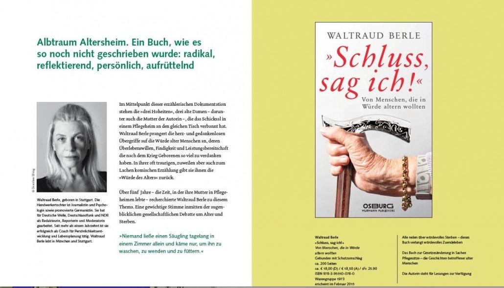 "alt=""Coaching München & Stuttgart: Dr. Berle. BerleBuch-Flyer, ""Schluss, sag ich!"""